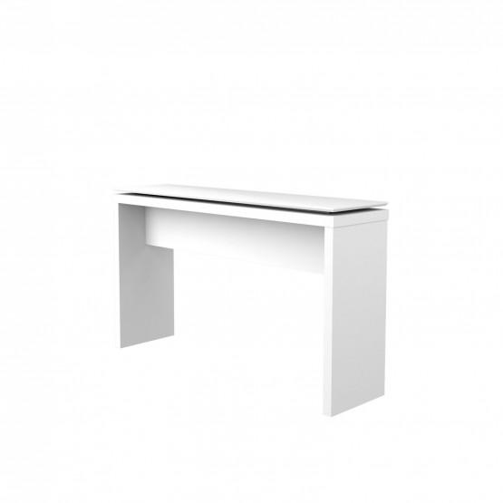 Lincoln Console Table, White photo