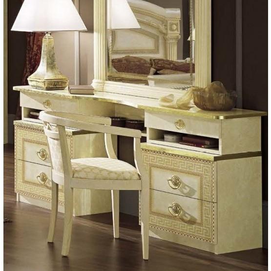 Aida Vanity Dresser, Ivory + Gold photo