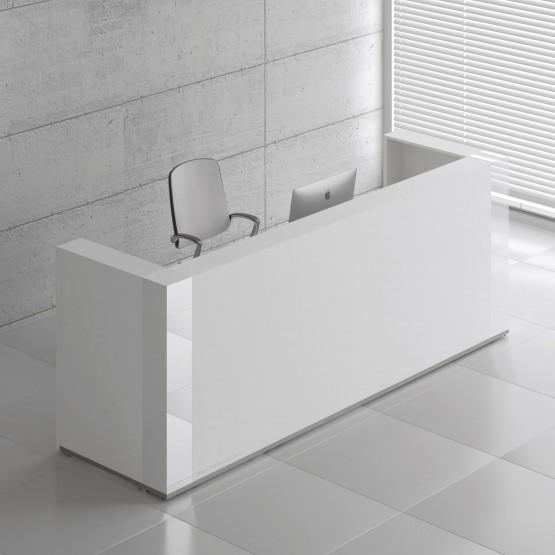 Tera TRA123 Reception Desk, White Pastel photo