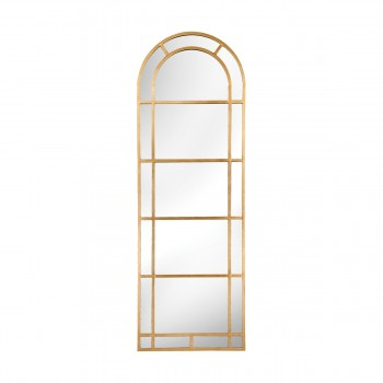 Arched Pier Mirror In Gold