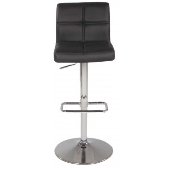 0665 Pneumatic Gas Lift Swivel Height Stool, Black