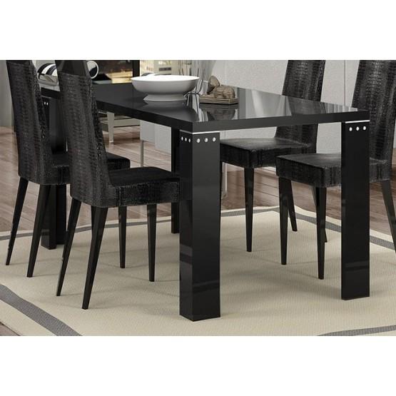Armonia Diamond Dining Table, Black photo