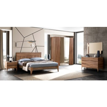 Akademy Fold Queen Size Bedroom Set w/Eco Leather Ring