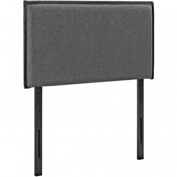 Camille Twin Fabric Headboard, Gray by Modway