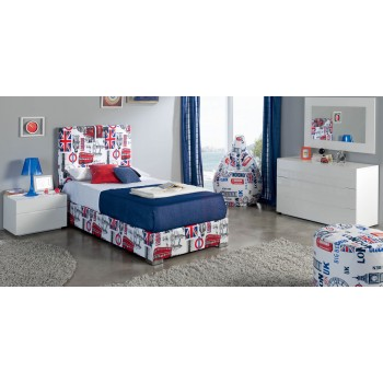 701C London 3-Piece Euro Twin Size Storage Kids Room Set