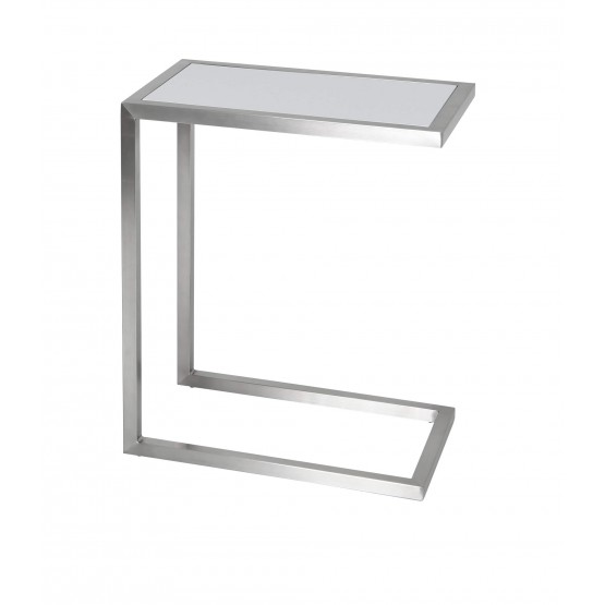 Alfa End Table, White Lacquer photo