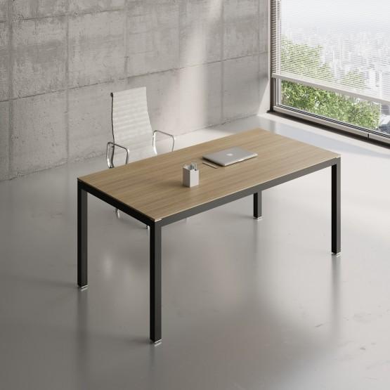 Impuls Desk IM05, Black + Canadian Oak photo