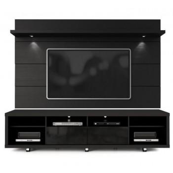 "Cabrini 85.8"" TV Stand & Panel, Black"