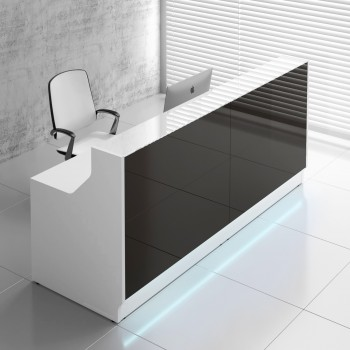Linea LIN25 Reception Desk, Black
