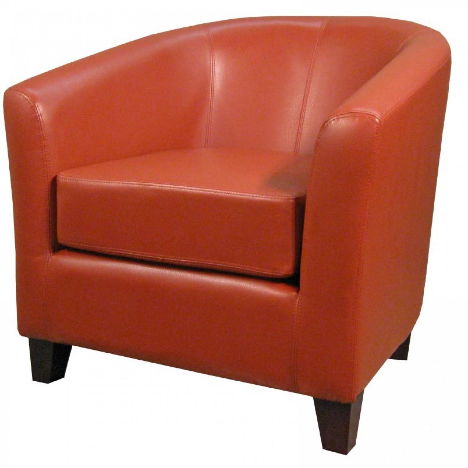 Fine Hayden Bonded Leather Tub Chair Pumpkin Creativecarmelina Interior Chair Design Creativecarmelinacom