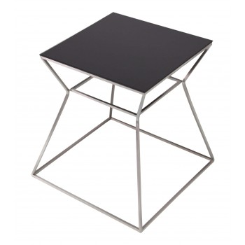 Gakko End Table, Black Glass by SohoConcept Furniture