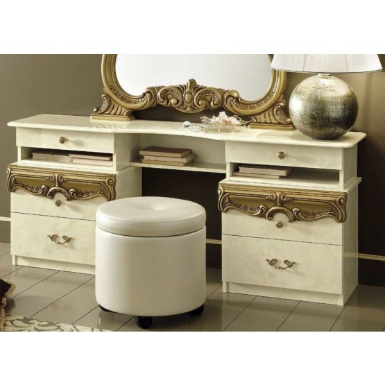 Barocco Vanity Dresser, Ivory photo