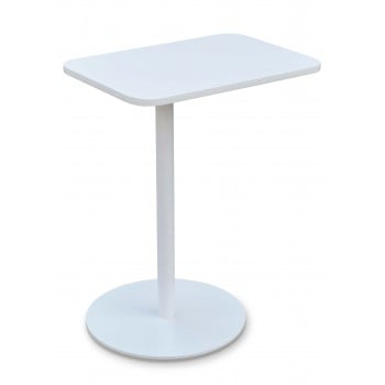 Harvard End Table Swivel, White by SohoConcept Furniture