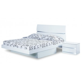 Aurora King Size Bed, White