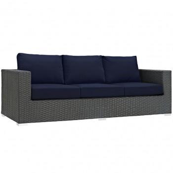 Sojourn Outdoor Patio Sunbrella® Sofa, Canvas Navy by Modway