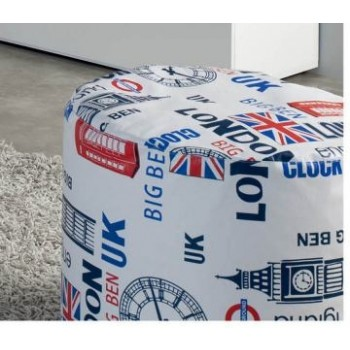 London Cilindro Pouf