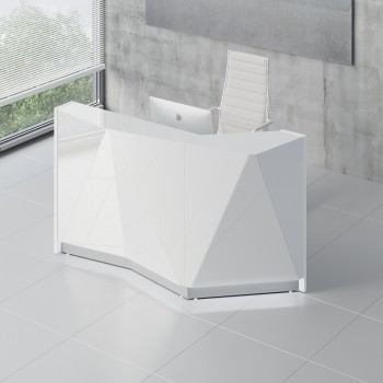Alpa ALP04L Reception Desk, White