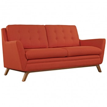 Beguile Fabric Loveseat, Atomic Red by Modway