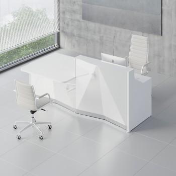 Alpa ALP21P Reception Desk, White