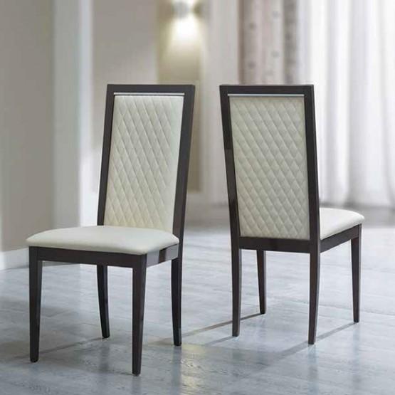 Platinum Rombi Dining Chair, Ivory Avorio photo