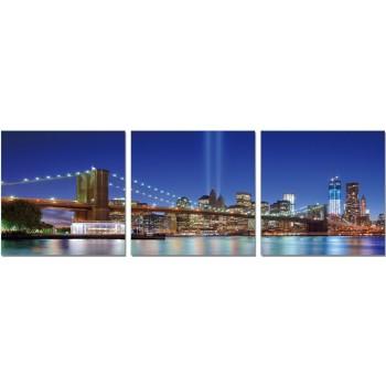 Premium Acrylic Wall Art Brooklyn Bridge  - SH-71181ABC by J&M Furniture