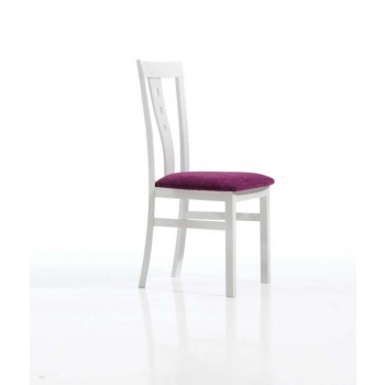 161 Dining Chair, White Base, Violet Upholstery