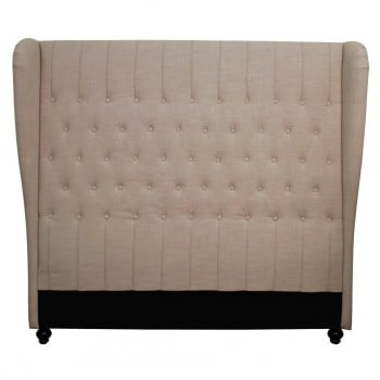 Alice Queen Wing Headboard, Khaki by NPD (New Pacific Direct)