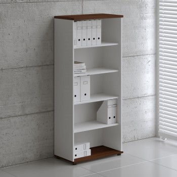 Basic K5504 Shelving Storage, White + Lowland Nut
