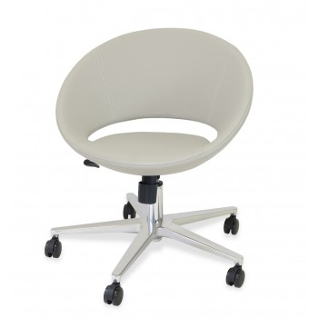 Crescent Office Chair, Base A1, Bone PPM by SohoConcept Furniture