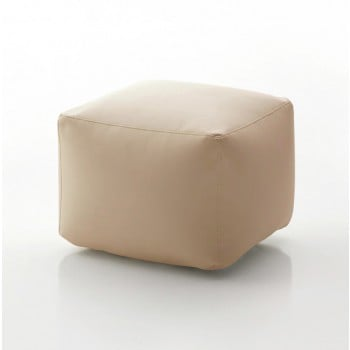 Truly Small Pouf, Dove Grey Eco-Leather