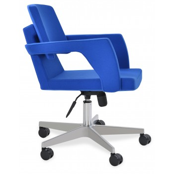 Adam Office Chair, Base A2, Blue Camira Wool by SohoConcept Furniture