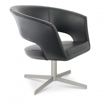Ada 4 Star Base Armchair, Black PPM by SohoConcept Furniture