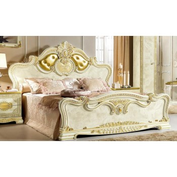 Leonardo King Size Bed w/Upholstered Headboard