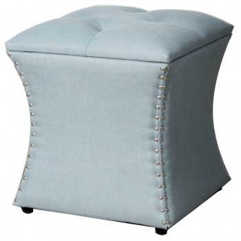 Amelia Nailhead Ottoman, Ocean by NPD (New Pacific Direct)