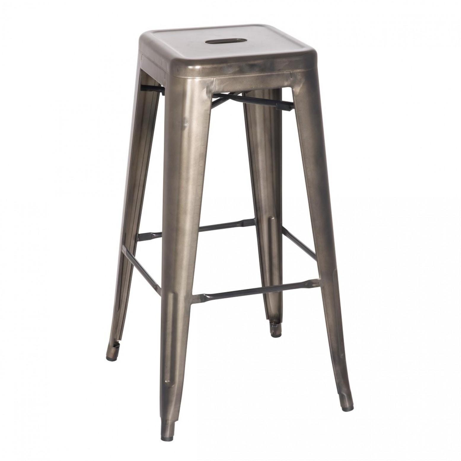 Excellent Metropolis Metal Backless Bar Stool Gunmetal Creativecarmelina Interior Chair Design Creativecarmelinacom