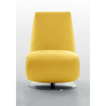 Ricciolo Chaise Lounge, Yellow Leather