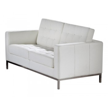 Silvania Loveseat, White