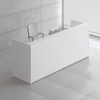 Tera TRA120 Reception Desk, White Pastel