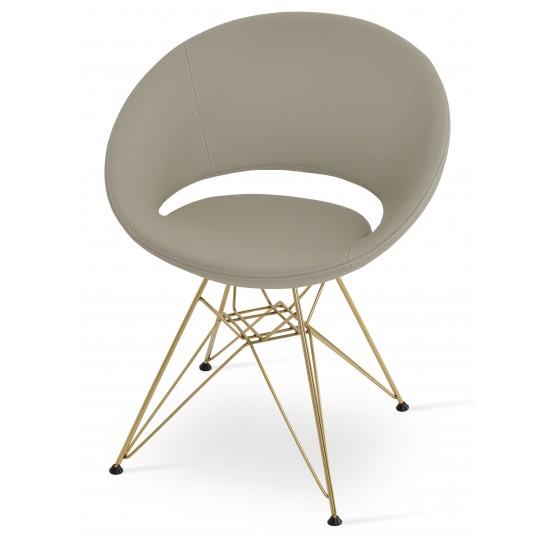 Crescent Tower Chair, Gold Brass, Bone PPM photo