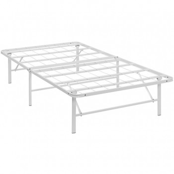 Horizon Twin Stainless Steel Bed Frame, White by Modway