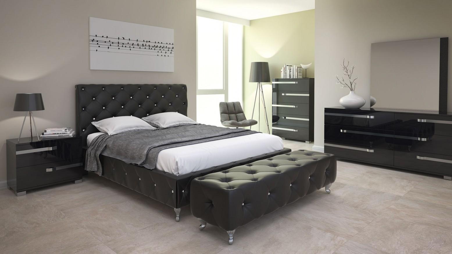 Maria 3 Piece Queen Size Bedroom Set Black Buy Online At Best Price
