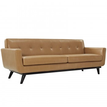 Engage Bonded Leather Sofa, Tan by Modway