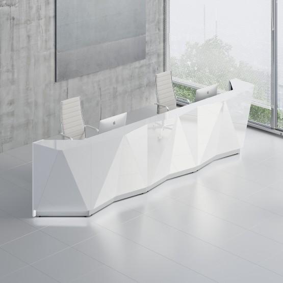 Alpa ALP16 Reception Desk, White photo