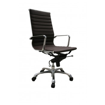 Comfy High Back Office Chair, Brown by J&M Furniture