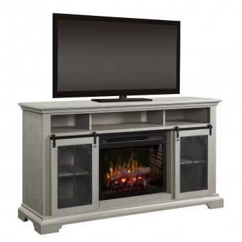 Olivia Media Console, Inner Glow Logs Firebox, Stone Fox