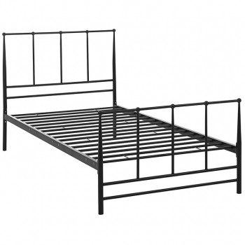 Estate Twin Bed, Brown by Modway