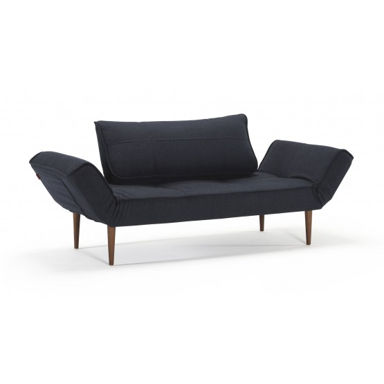 Zeal Deluxe Daybed, 515 Nist Blue Fabric + Dark Wood Legs photo