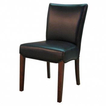 Beverly Hills Bonded Leather Chair, Black, Set of 2 by NPD (New Pacific Direct)