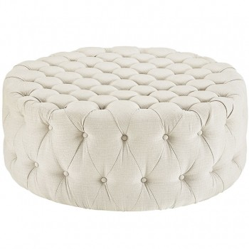 Amour Fabric Ottoman, Beige by Modway
