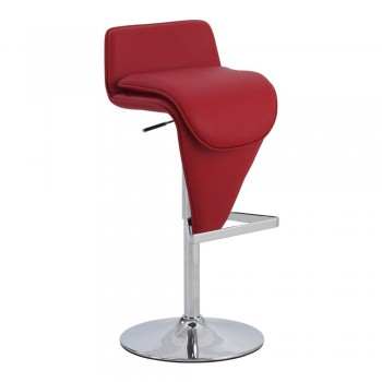 0630 Low Back Pneumatic Stool, Red by Chintaly Imports